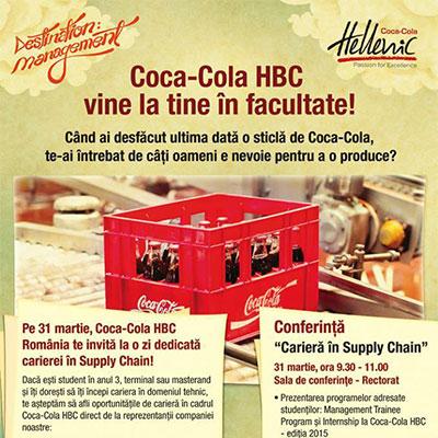Coca-Cola HBC vine la tine in facultate!