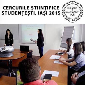 Etapa Iasi a competitiei Cercurile stiintifice studentesti a ajuns la final