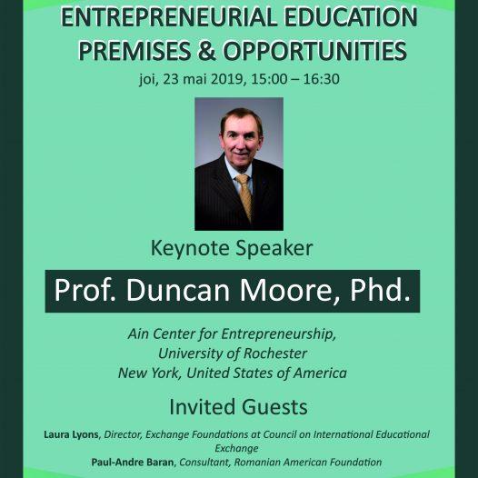 Invitație dezbatere publică – Entrepreneurial Education. Premises & Opportunities