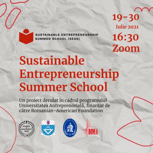 Invitație participare Sustainable Entrepreneurship Summer School SESS 2021